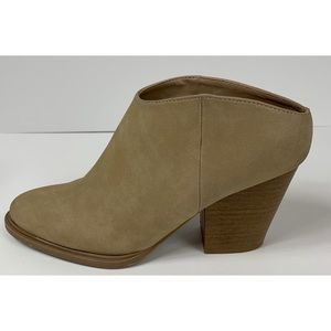 Brash Slip On 3 Inch Heels Tan Size 6.5